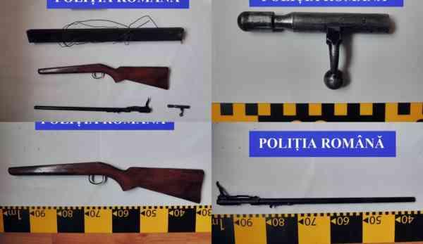 Arma ascunsă de bărbatul din Tureac arestat săptămâna trecută, găsită de polițiști