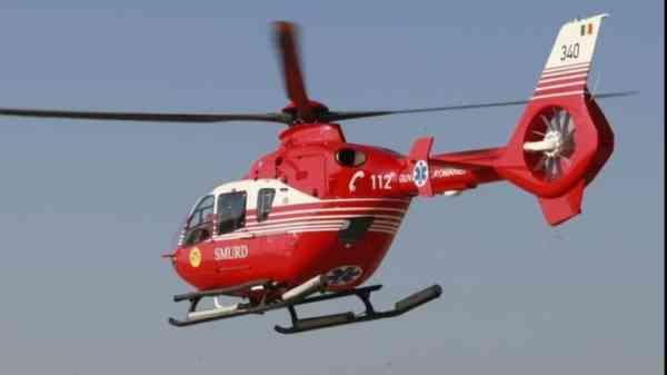 FOTO: Accident în Mogoșeni! Bărbat din Zagra, dus cu elicopterul SMURD la spital!