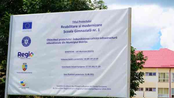 Școala Gimnazială nr. 1 din Bistrița, în plin șantier (FOTO)