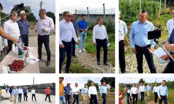 Vizită de lucru a ministrului Agriculurii, Adrian Oros, în județul Bistrița-Năsăud (FOTO)
