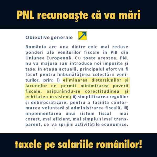 """PSD BN: """"PNL confirmă în propriul program de guvernare că va crește taxele!"""""""