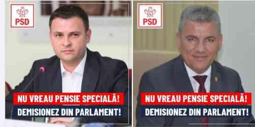 """Daniel Suciu și Ioan Deneș: """"Nu vrem pensie specială. Demisionăm din Parlament"""""""